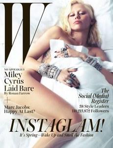 Miley Cyrus pour W Magazine