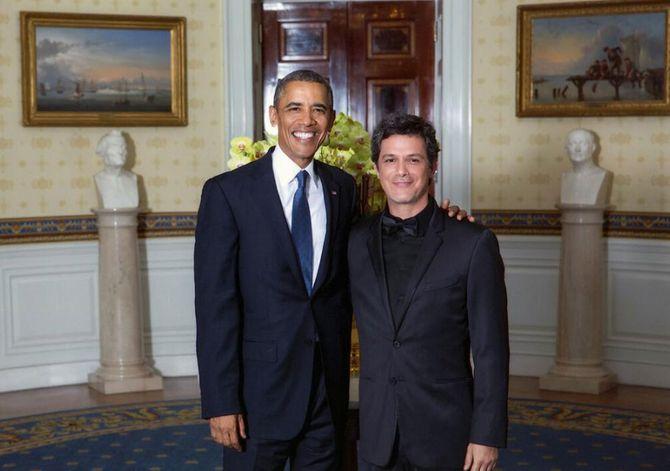 Alejandro Sanz y Barack Obama