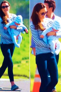 Kate Middleton and George