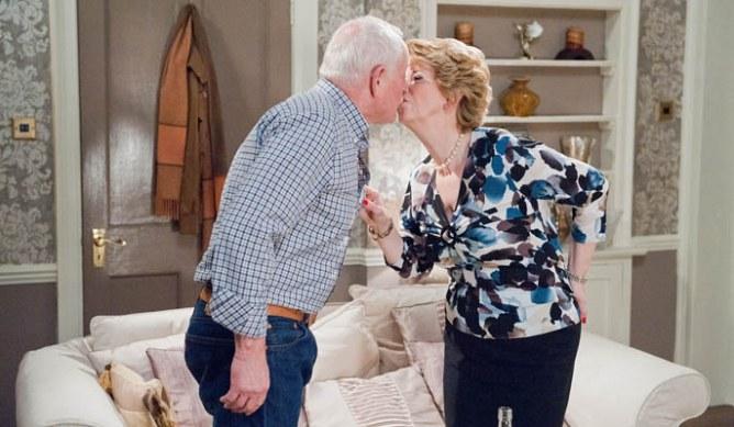 Diane and Pollard kiss