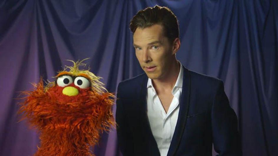 Benedict Cumberbatch appears on Sesame Street