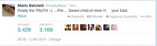 Il tweet di Balotelli