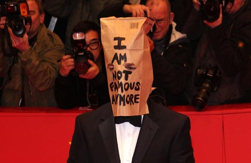 Shia LaBeouf wears a paper bag over his head at premiere and storms out of Press Conference
