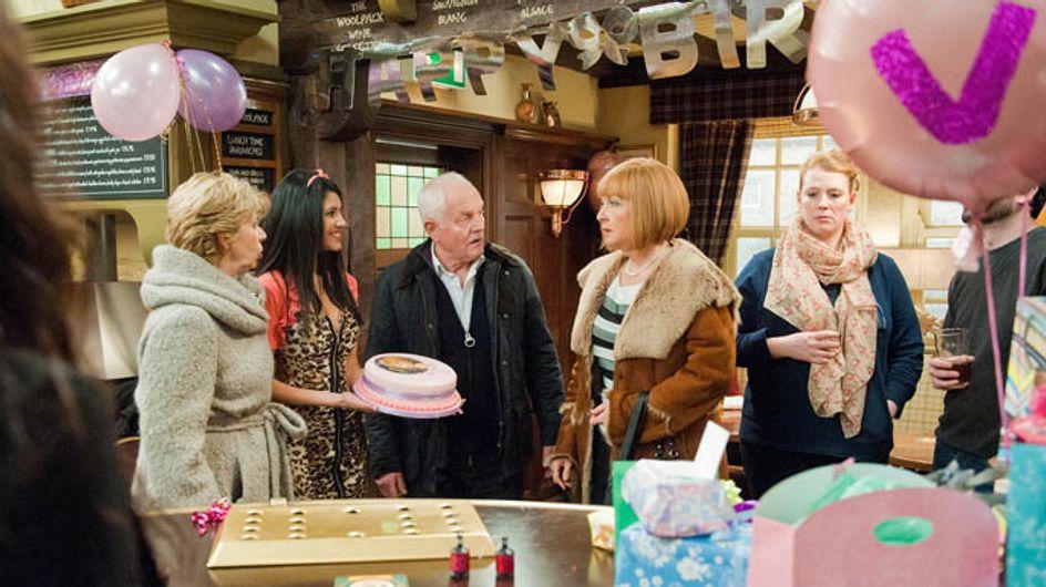 Emmerdale 19/02 – Val's surprise party is a shocker