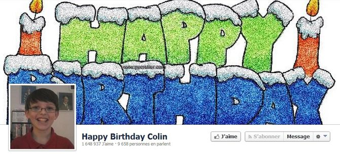 Happy Birthday Colin !