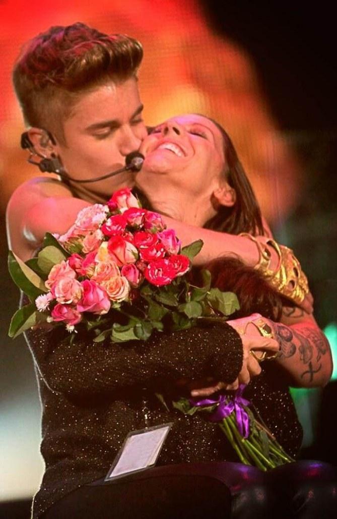 Justin Bieber mit Mutter Pattie Mallette
