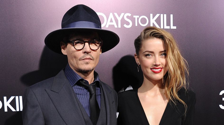 Check out Johnny Depp and Amber Heard on the red carpet for her new film 3 Days to Kill