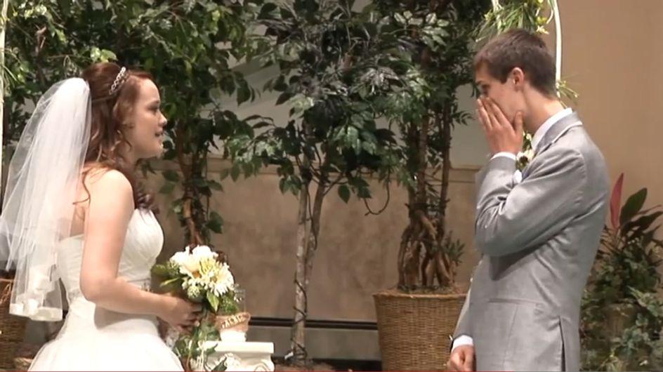 So schön! Wie diese Braut ihren Bräutigam zu Tränen rührt