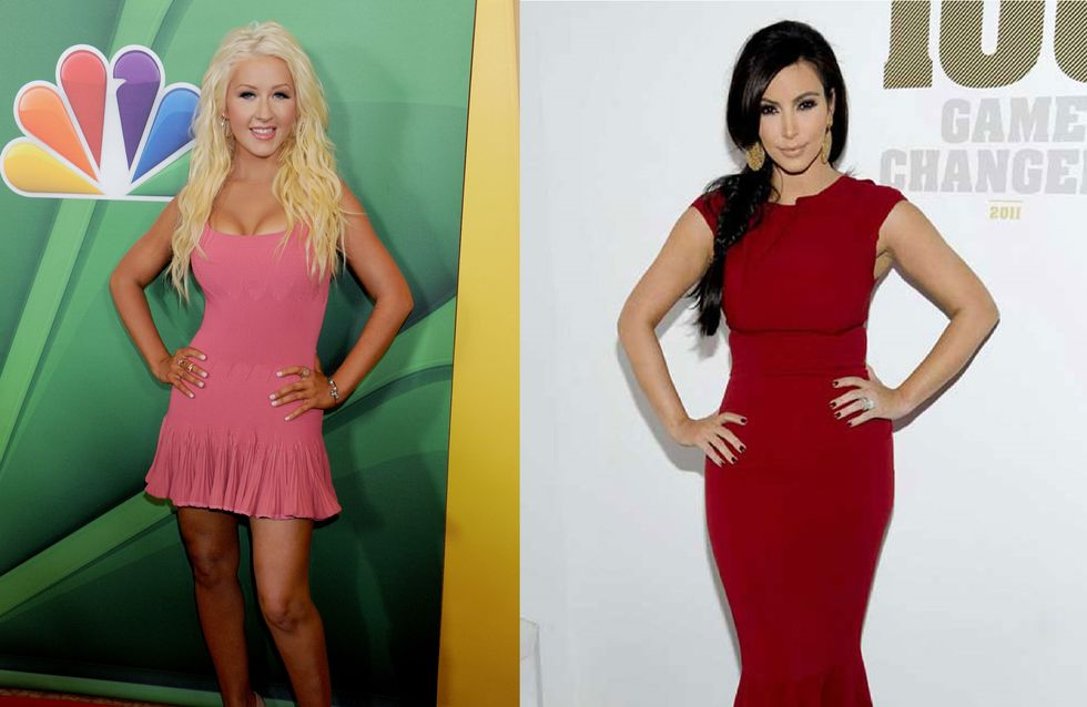 Saint-Valentin : Kim Kardashian couverte de roses, Christina Aguilera fiancée (Photos)