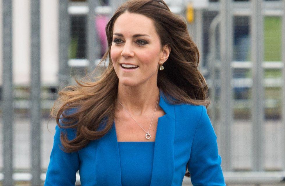 Kate Middleton : Toute de bleu vêtue pour la Saint-Valentin, un message ?