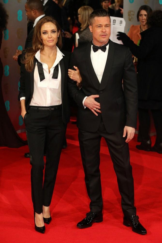 Angelina Jolie e Brad Pitt ai BAFTA 2014