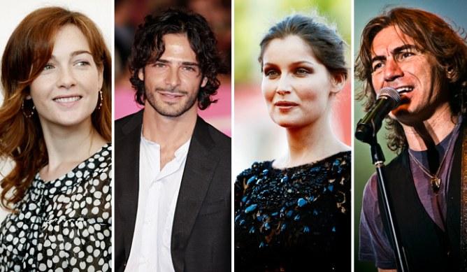 Quattro degli ospiti presenti alla prima serata di Sanremo