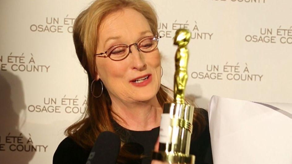 Meryl Streep : Lui remettre un mini-Oscar ? C'est fait ! (Vidéo exclu)