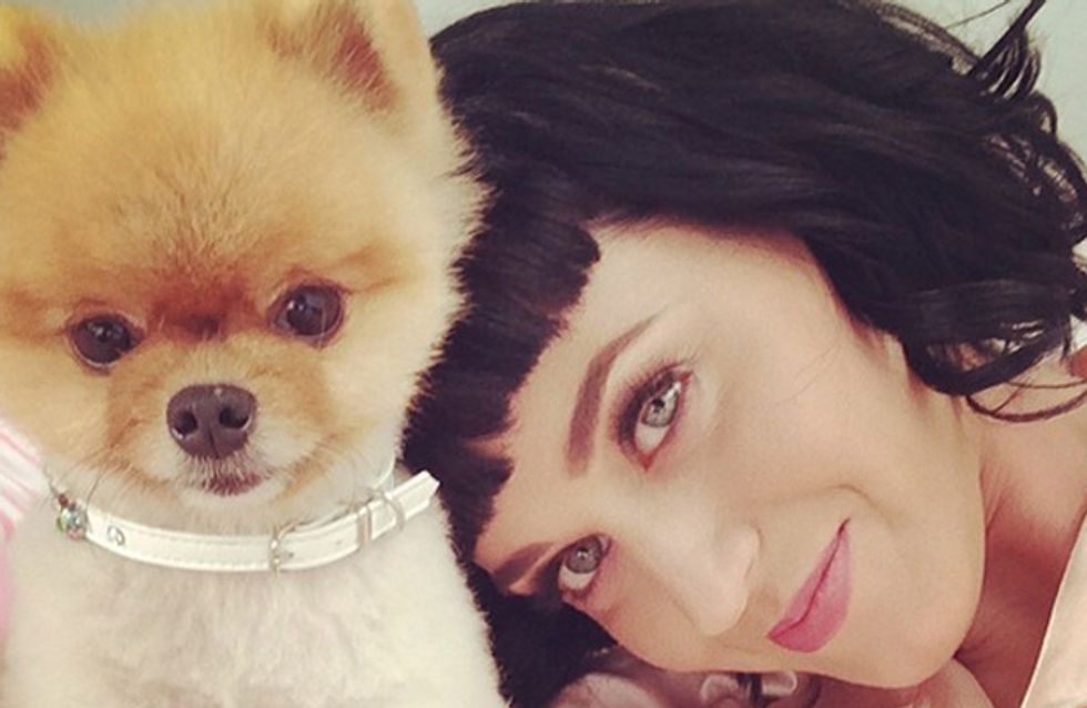 Check out Katy Perry's new bangs, and a ring on THAT finger?