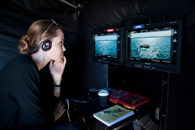Angelina Jolie sur le tournage de Unbroken
