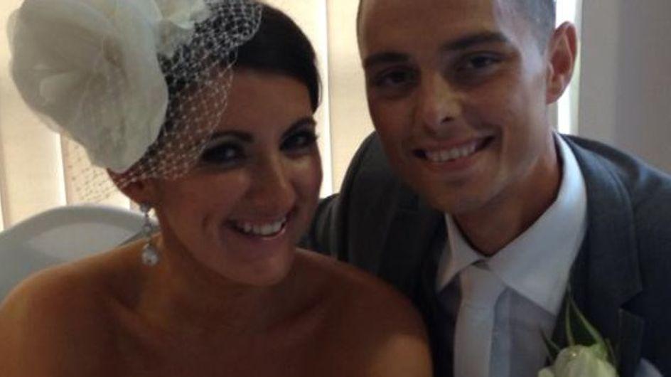 Der todkranke Chris und seine Braut: Nach diesem Foto blieben ihnen noch 6 Monate