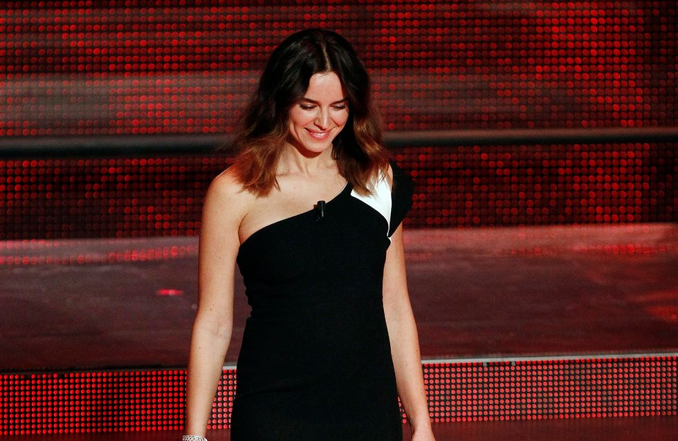 Kasia Smutniak incinta. Le foto del pancino dell'attrice a Sanremo