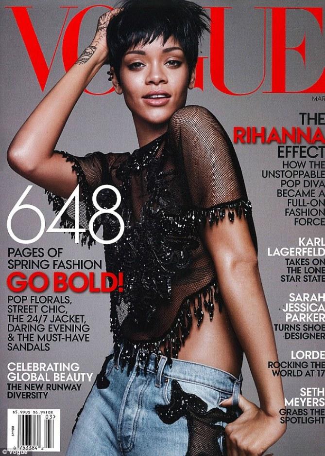 Rihanna en couverture de Vogue