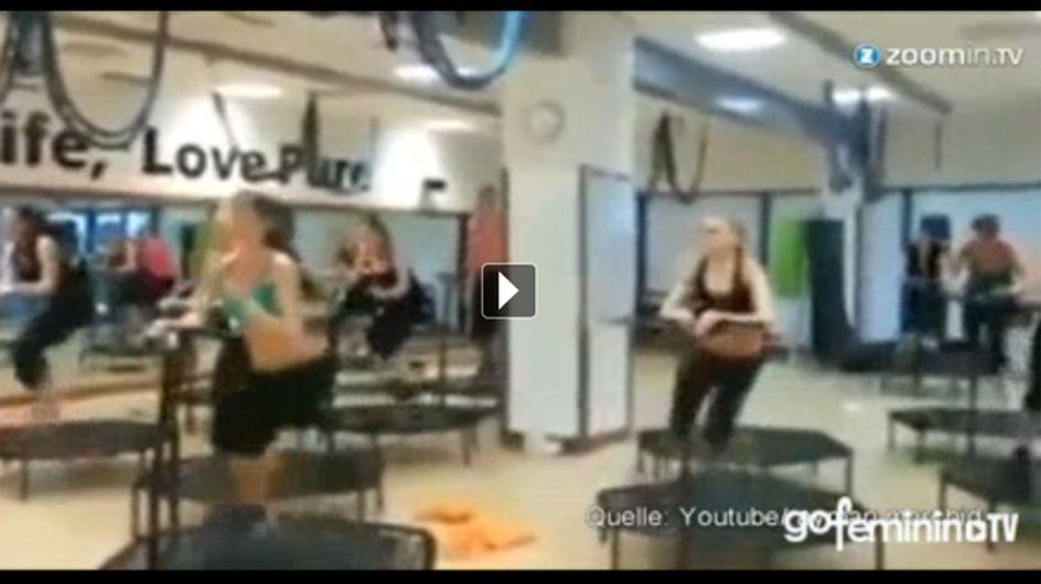 Crazy, aber sicher effektiv... Das irre Trampolin-Training