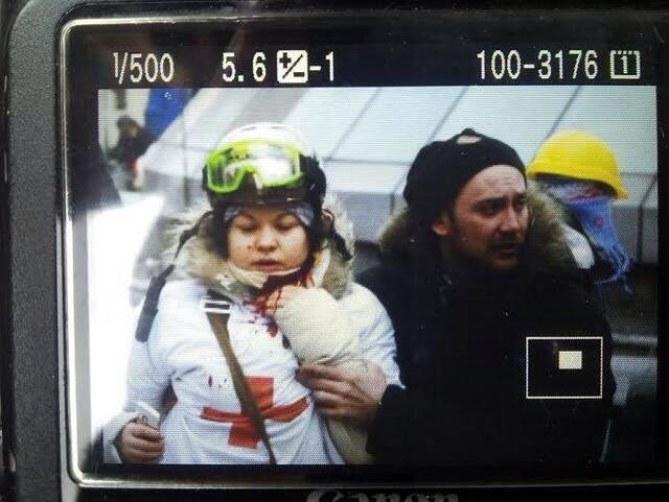 Olesya Zhukovskaya bléssée au cou