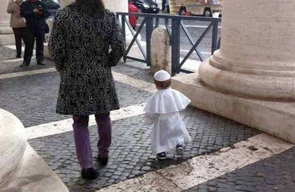 """Carnevale: """"Mamma, quest'anno mi vesto da Papa!"""""""