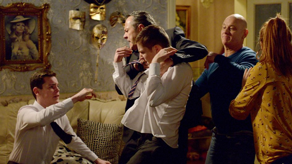 Eastenders 6/03 – The Butcher family erupts in a raging row