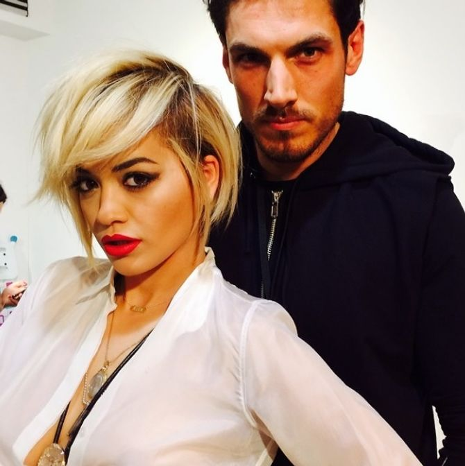 Rita Ora et son coiffeur Chris Appleton