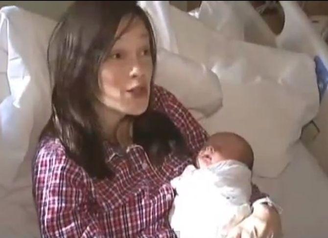 Polly McCourt et son bébé
