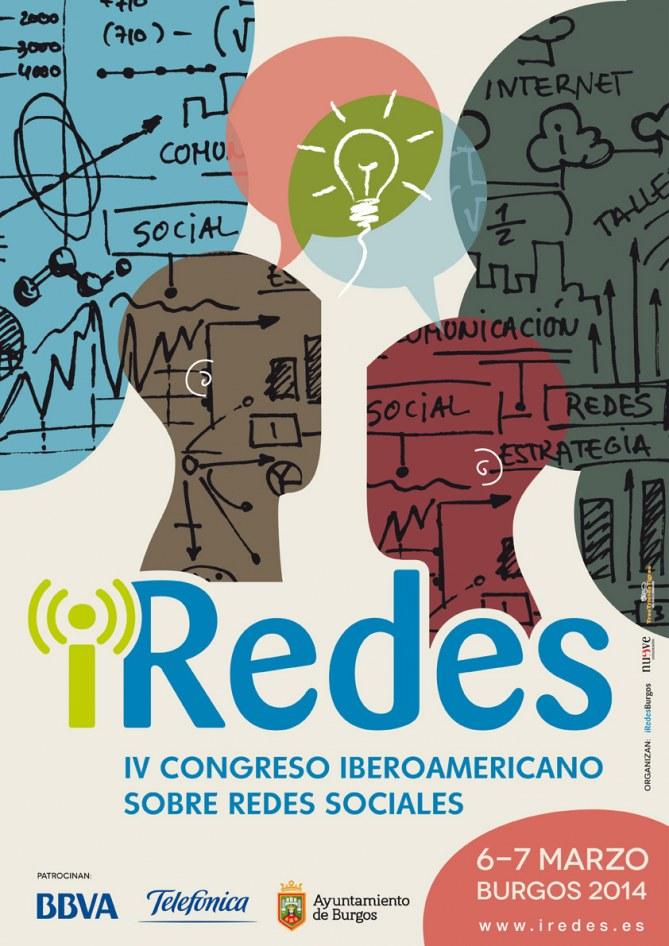 Cartel del IV Congreso Iberoamericano sobre Redes Sociales