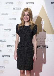 Alexandra Jiménez en la presentación de los Oscar en Canal+