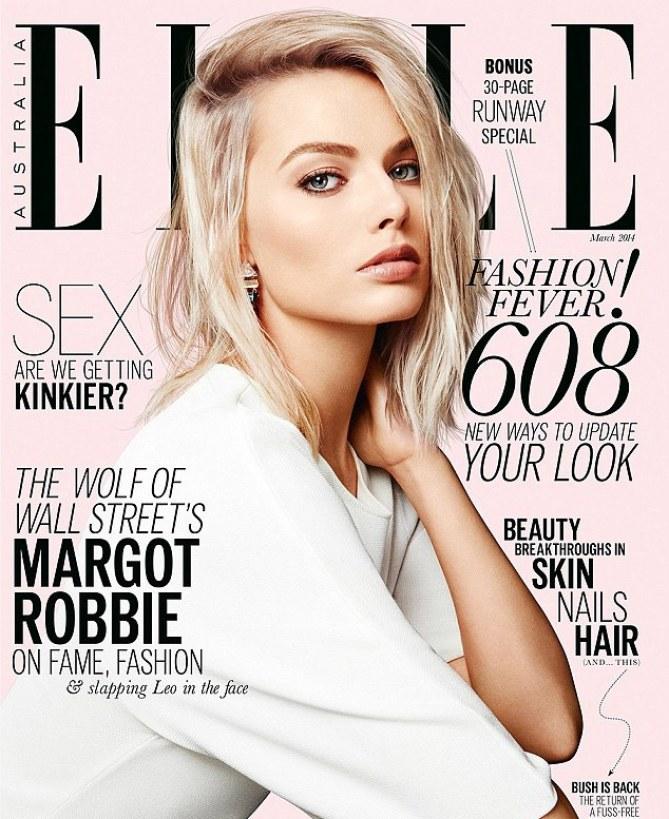 Margot Robbie en couverture du Elle Magazine