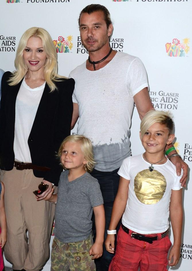 Gwen Stefani insieme ai figli e al marito