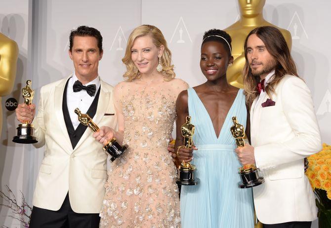 Matthew McConaughey, Cate Blanchett, Lupita Nyong'o en Jared Leto