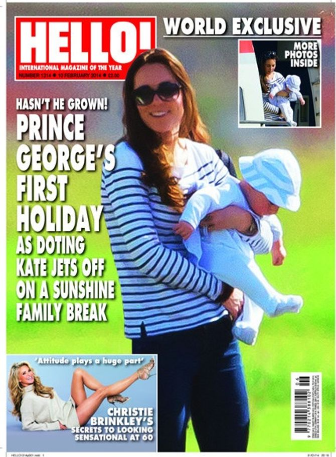 Kate et George en vacances au Caraïbes en février