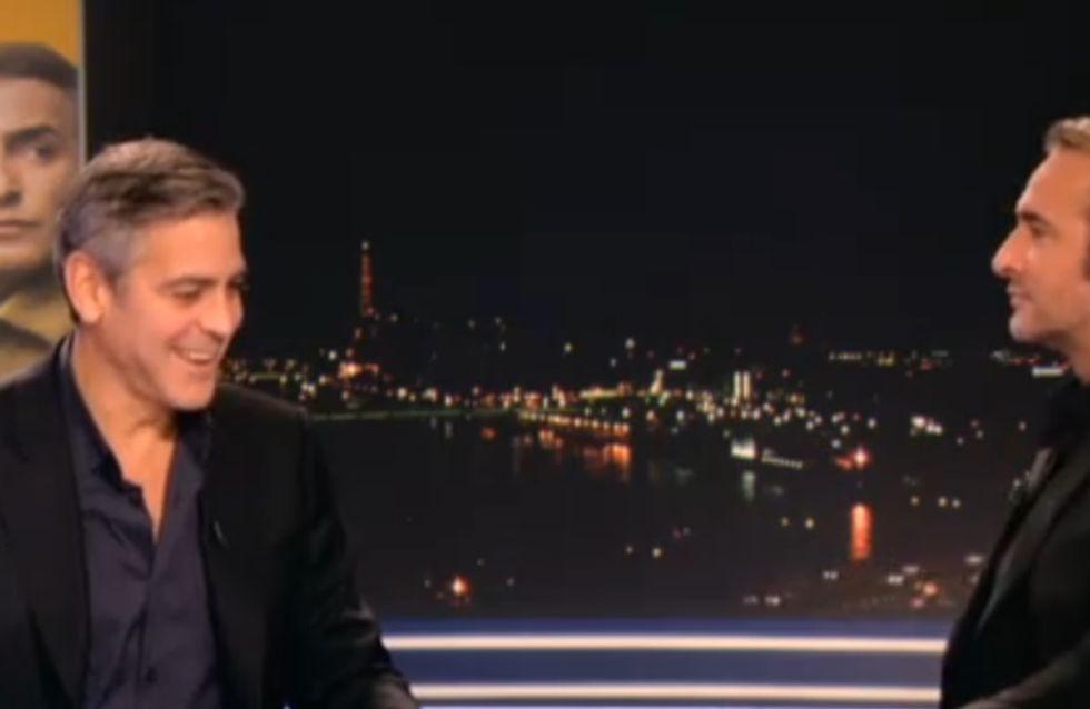 George Clooney : Un fou-rire incontrôlable avec Jean Dujardin sur le plateau du JT (Vidéo)