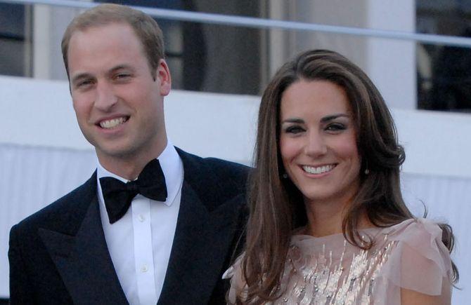 Prinz William und seine Frau Catherine