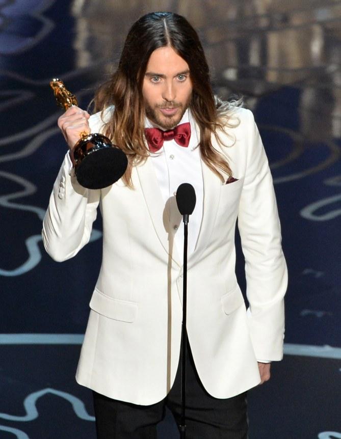Jared Leto mit seinem Oscar