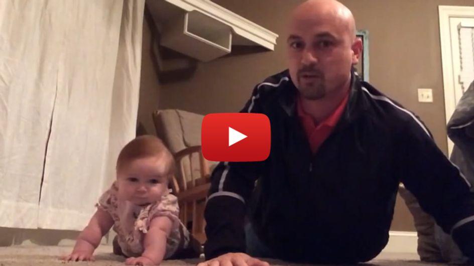 Zu süß: Dieser Papa hat ein neues Workout für sich entdeckt - gemeinsam mit seiner Tochter!