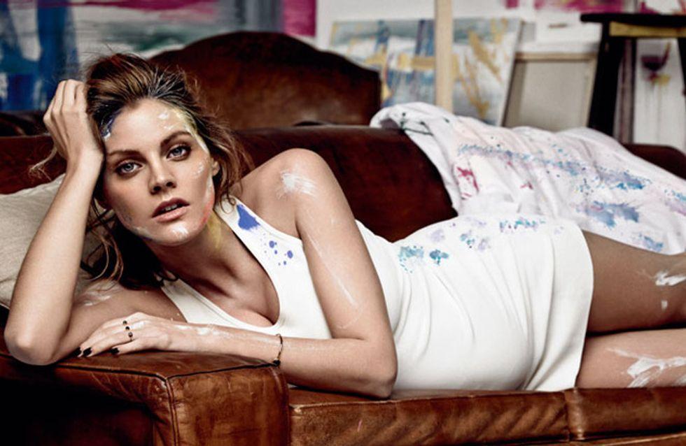Amaia Salamanca posa embarazada para una revista de moda