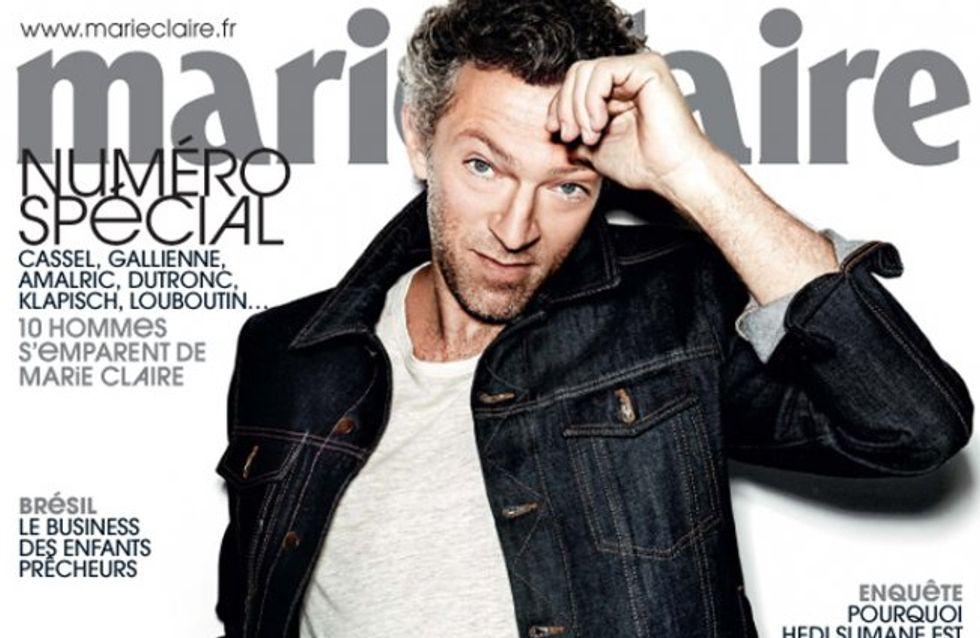 Vincent Cassel : Pionnier en couverture de Marie Claire