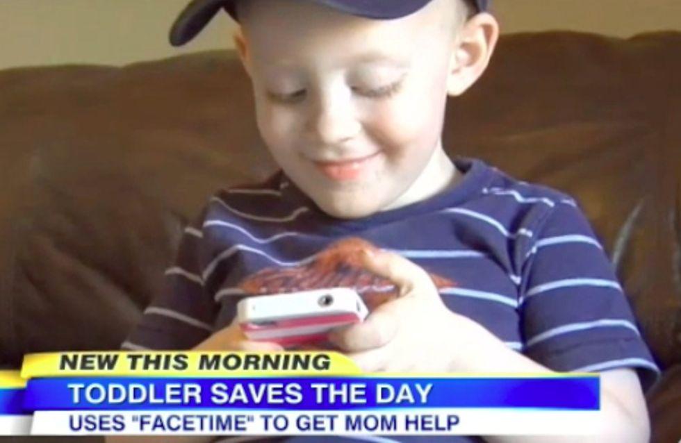 Tapferer Kerl: Wie ein kleiner Junge seiner Mama mit einem Anruf das Leben rettet!