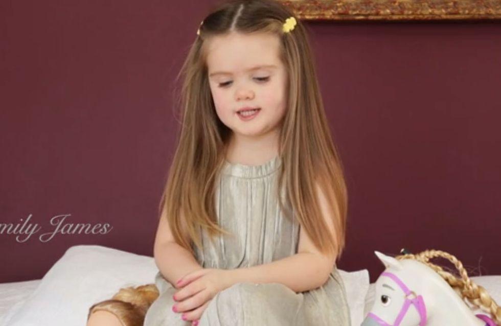 A seulement trois ans, cette fillette a décidé de venir en aide aux enfants malades (Vidéo)