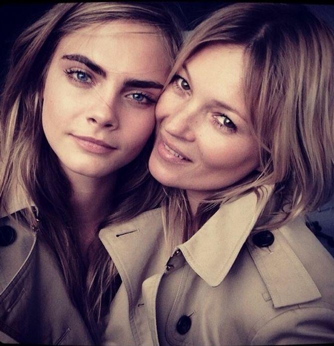 Cara Delevingne et Kate Moss pour la nouvelle campagne Burberry