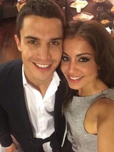 Hiba Abouk y Álex González