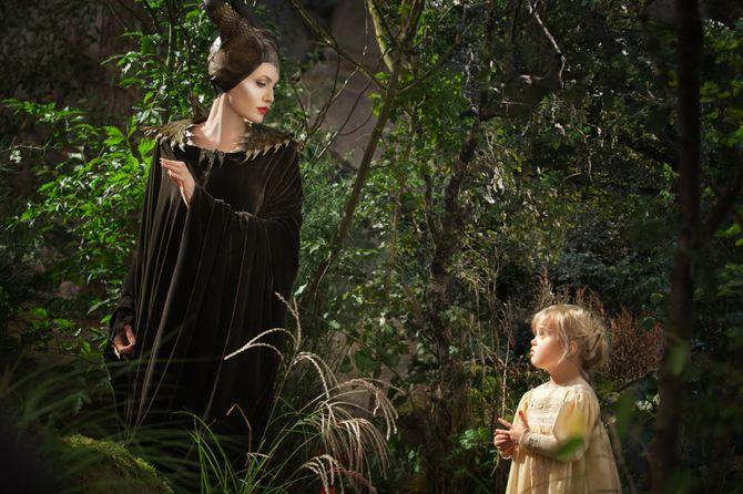Angelina Jolie et sa fille dans Maléfique