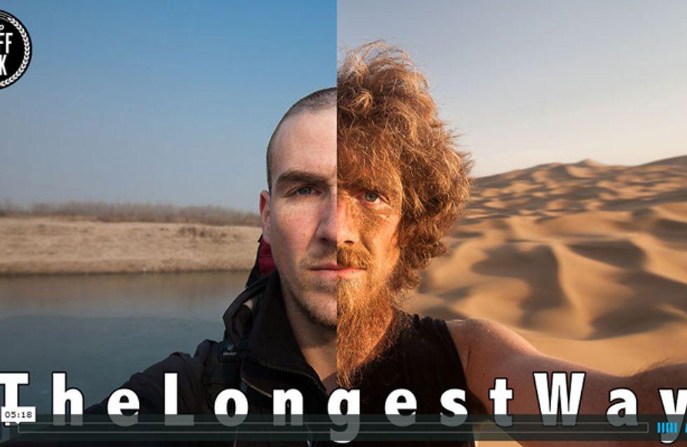 Krasse Veränderung: So sieht Man(n) nach 4500 km Fußmarsch aus!