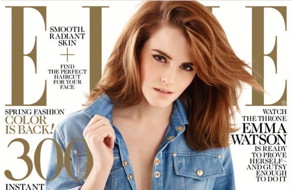 Emma Watson : Icône 70's en couverture du Elle US