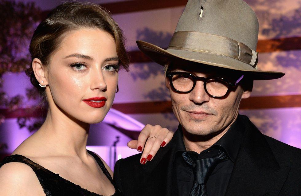 Johnny Depp et Amber Heard : Ils célèbrent leurs fiançailles entourés de leurs amis