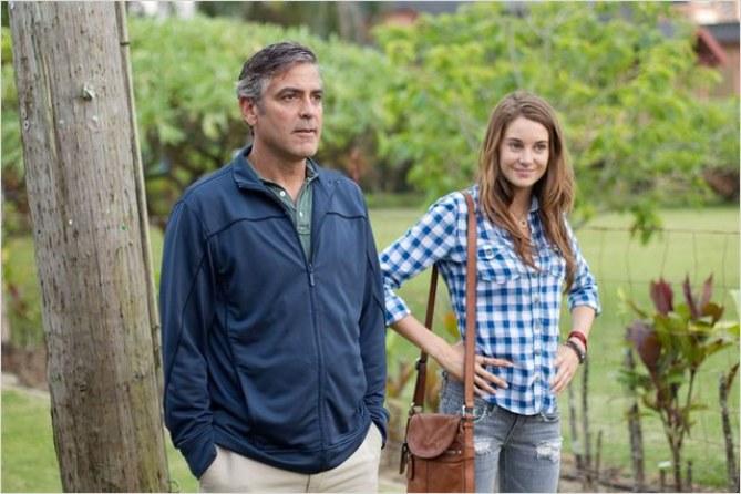George Clooney et Shailene Woodley