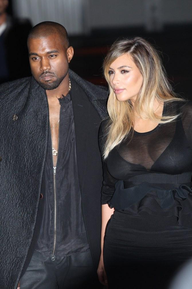 Kanye West et Kim Kardashian